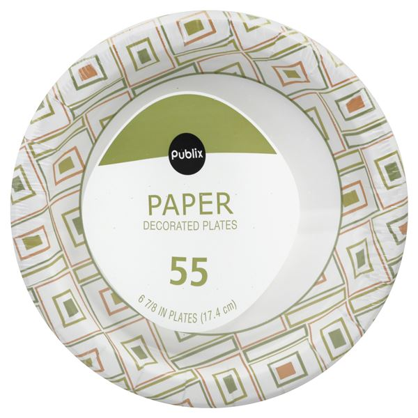Publix Paper Plates Decorated 6 7 8 In Be My Shopper