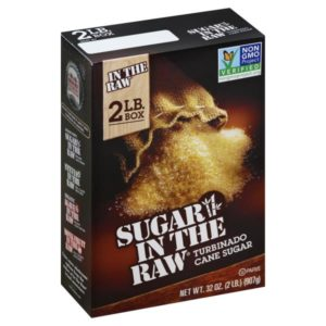 2lb Box, Sugar in the Raw Cane Sugar, Turbinado