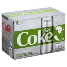 Diet Coke Cola, Ginger Lime Flavored 1